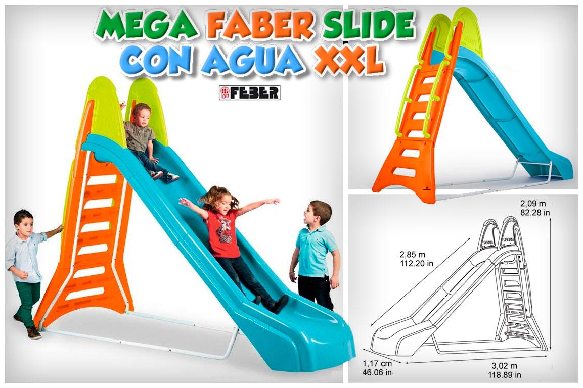 tobogan feber mega slide xxl con agua
